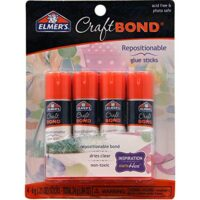 Elmer's CraftBond Glue Sticks, Repositionable, 0.21 Ounces, 4 Count