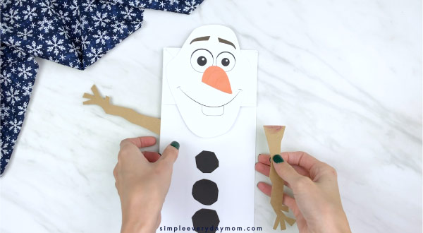 paper bag olaf craft