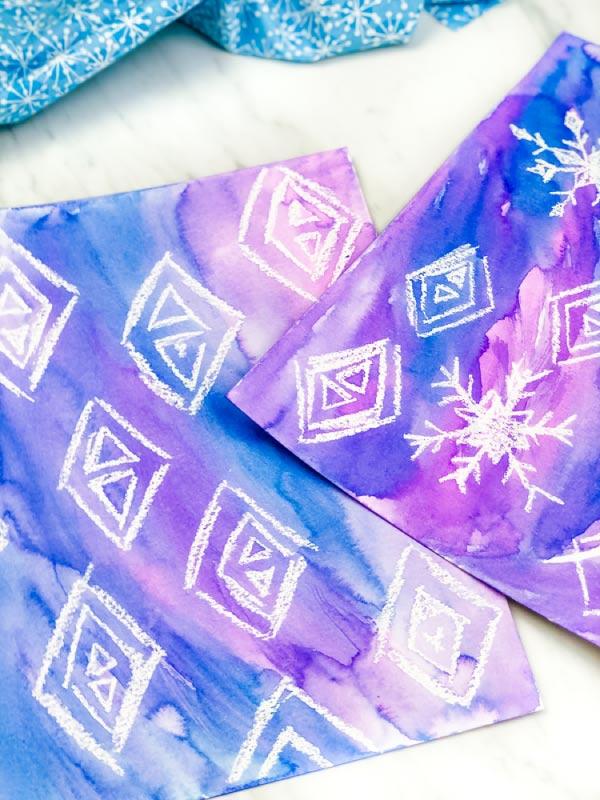 frozen 2 snowflake art