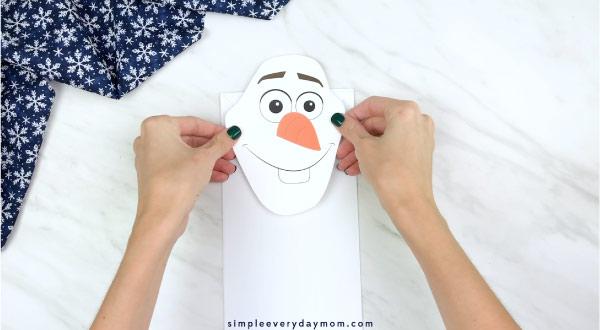 olaf paper bag craft