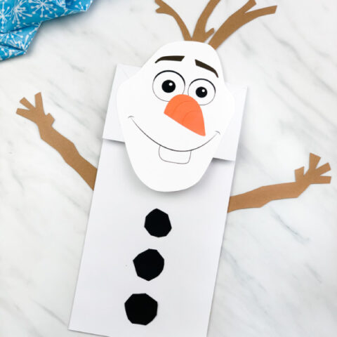 Paper Bag Olaf Craft From Frozen 2