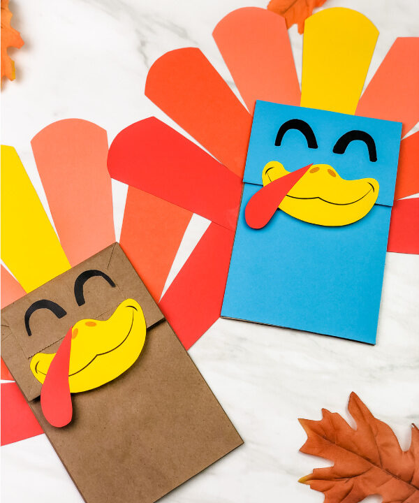 2 paper bag turkey crafts