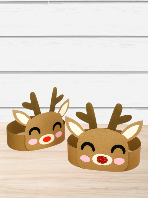 2 reindeer headband crafts