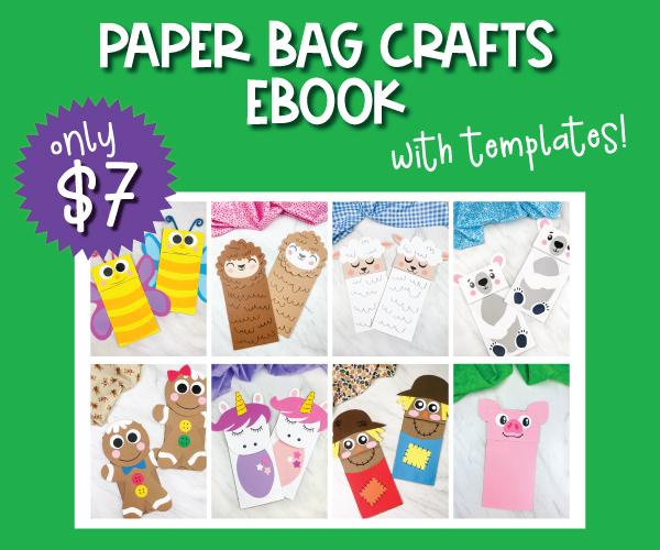 paper bag craft ebook image collage