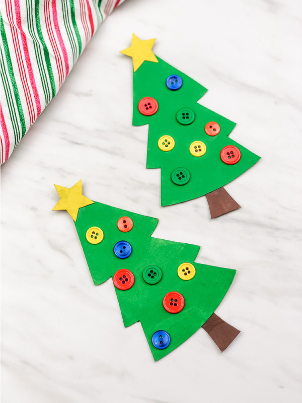 easy Christmas tree craft for preschool