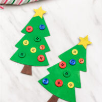 Recycled Christmas Tree Craft For Kids