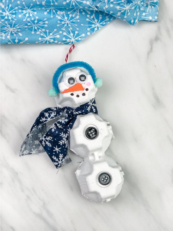 recycled snowman craft for kids