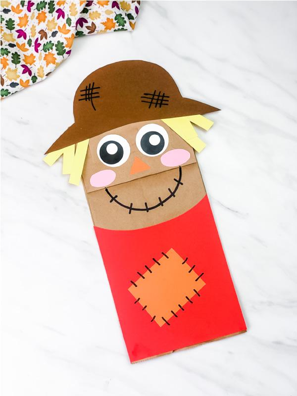 paper bag scarecrow craft