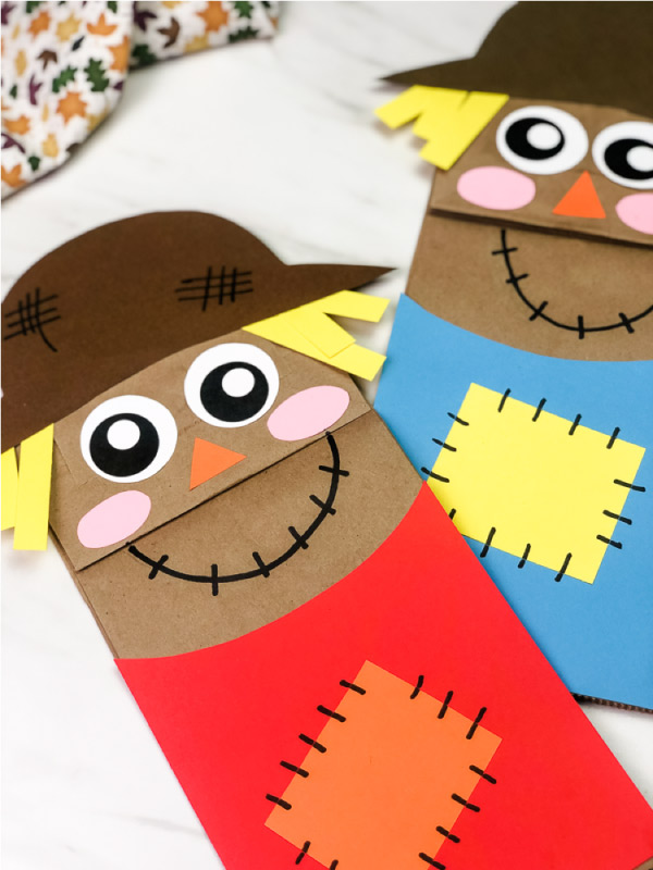 brown paper bag puppet