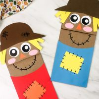 Paper Bag Scarecrow Craft For Kids