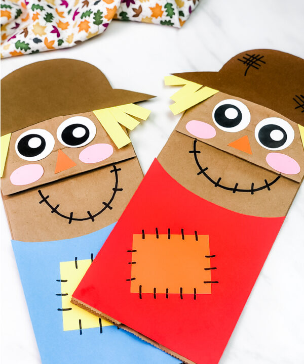 2 paper bag scarecrow crafts