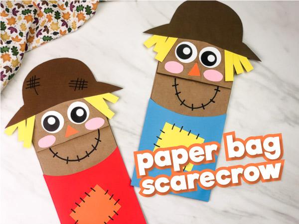 Kraft Paper Bag Scarecrow Craft For Kids