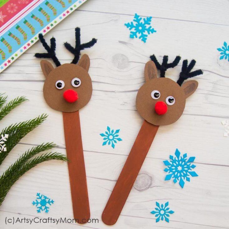 Popsicle Stick Reindeer Craft
