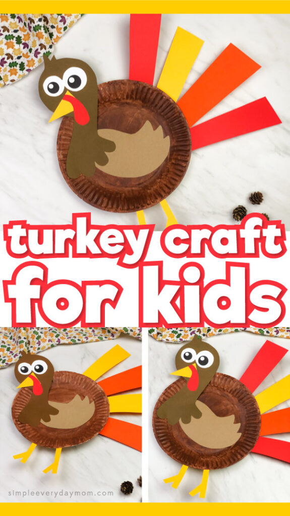 paper plate turkey craft collage with the words turkey craft for kids in the middle