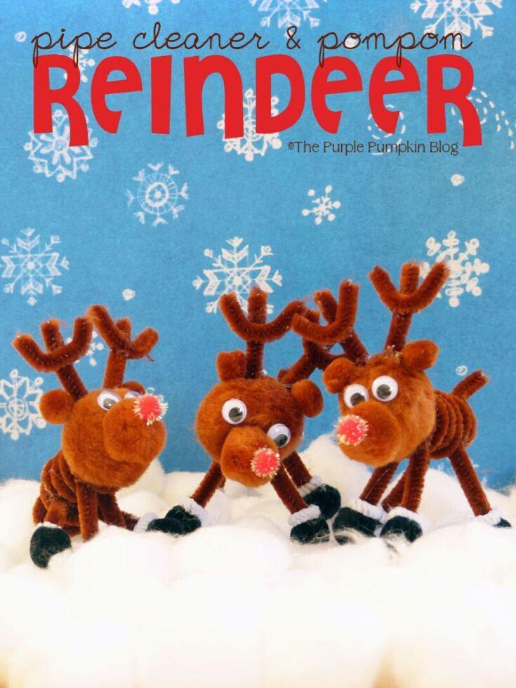 Pipe Cleaner & Pom pom Reindeer Craft