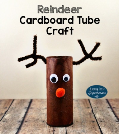 Rudolph the Red-Nosed Reindeer Cardboard Tube Craft -