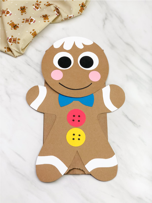 gingerbread man puppet craft