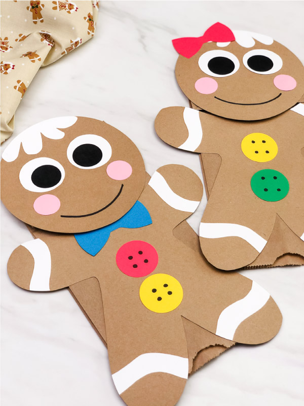 brown paper bag gingerbread man craft