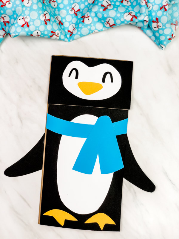 paper bag penguin craft