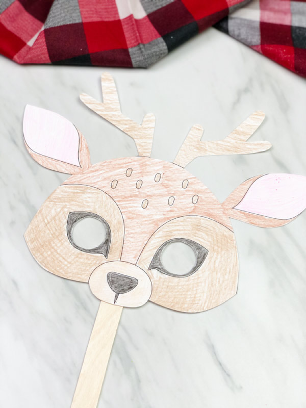 Colored in reindeer mask