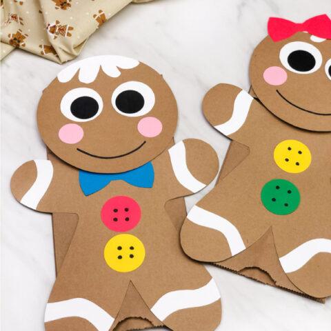 Gingerbread Man Paper Bag Puppet