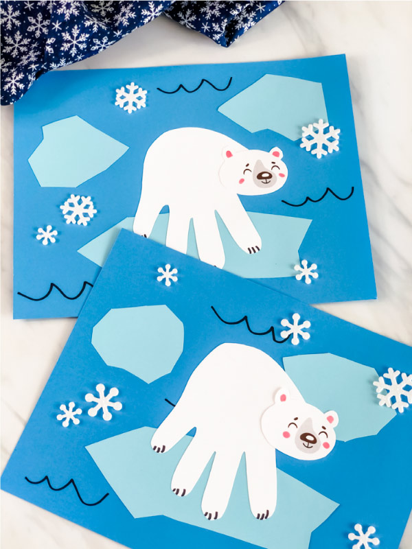 arctic animal paper craft