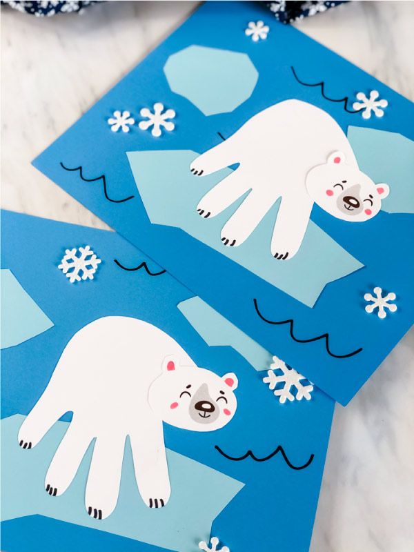 polar bear winter craft for kids