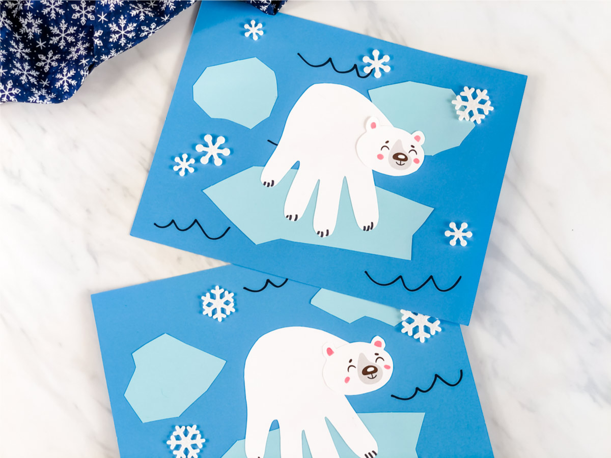 Polar Bear Handprint Craft With Free Template