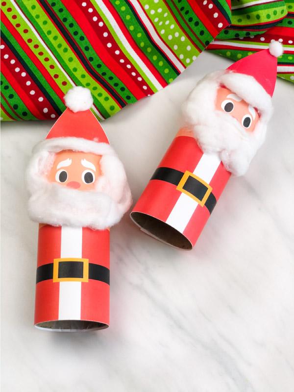 2 toilet paper roll santa crafts