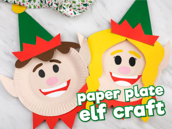 Paper Plate Elf Craft For Kids