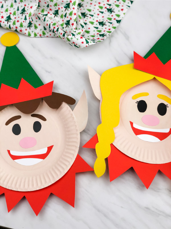 boy and girl paper plate crafts