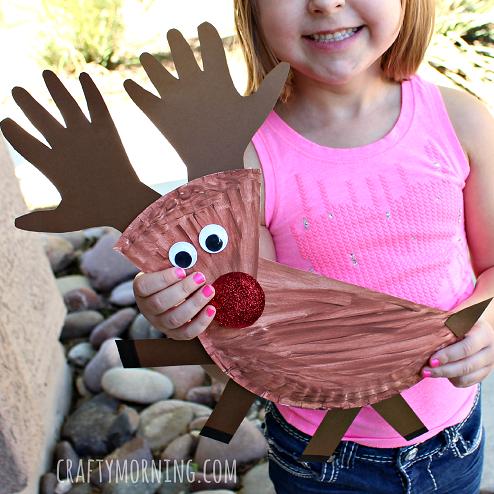 Paper Plate Reindeer Craft for Kids - Crafty Morning