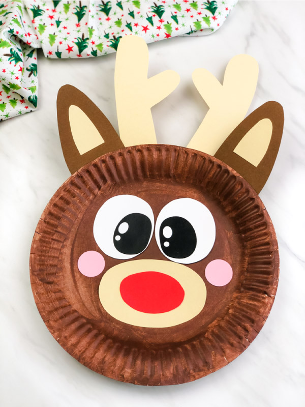 paper plate rudolph craft