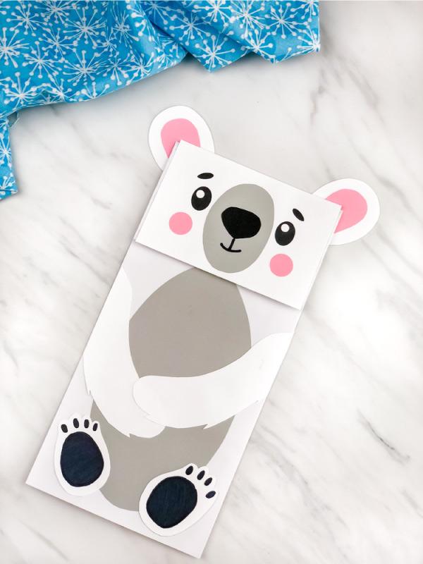 arctic animal polar bear craft