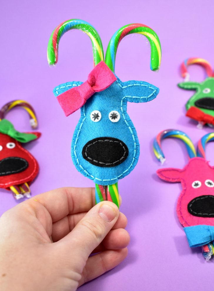 Felt Reindeer Candy Cane Cozies