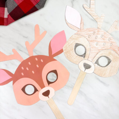 Free Printable Reindeer Mask Craft