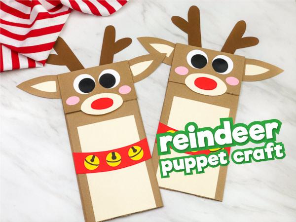 Reindeer Paper Bag Craft For Kids