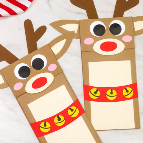 Reindeer Paper Bag Craft For Kids