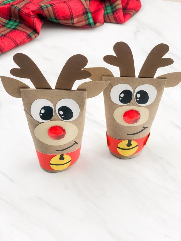 toilet paper roll reindeer crafts