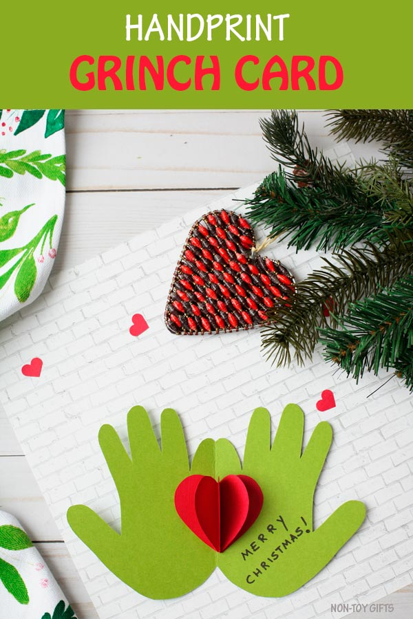 Handprint Grinch card