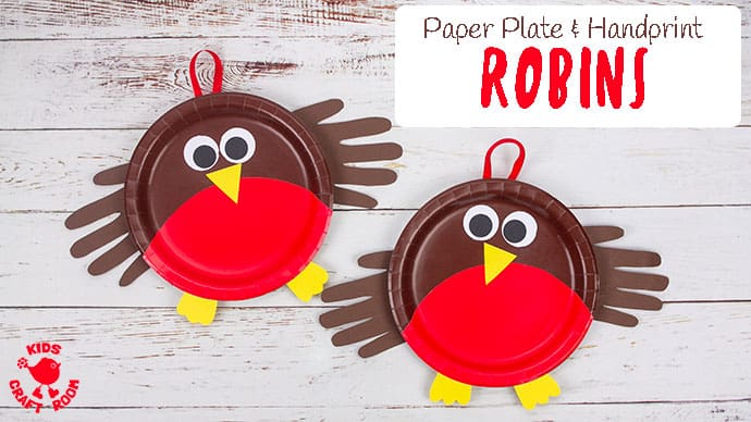 Paper Plate Robin Craft