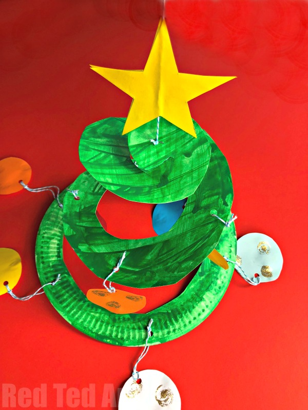Paper Plate Christmas Tree Whirligig