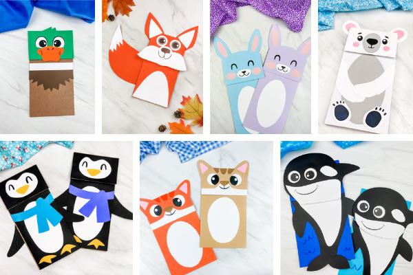 paper bag crafts for kids image collage