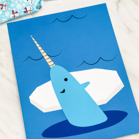 Cute Narwhal Craft For Kids