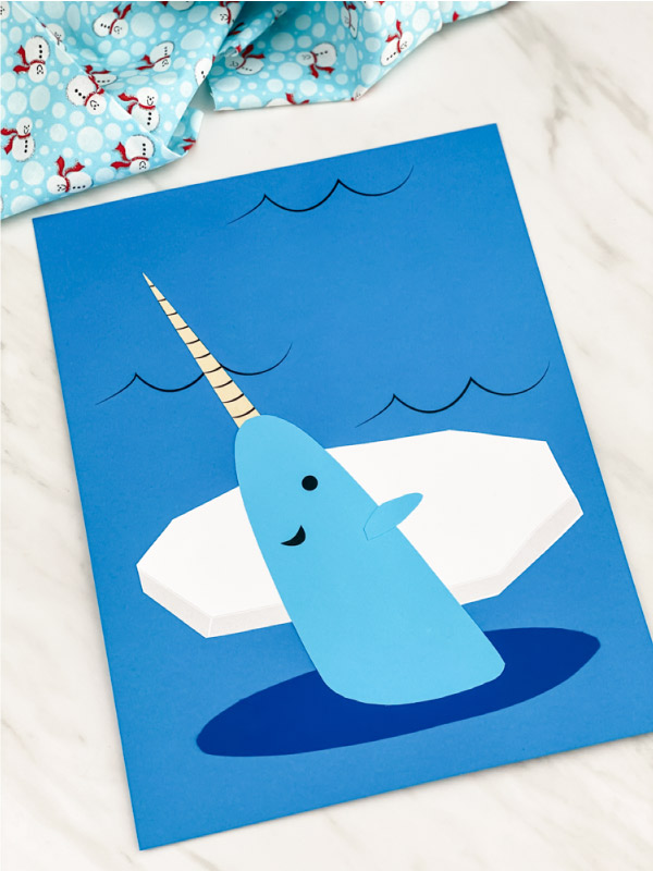 arctic animal narwhal craft