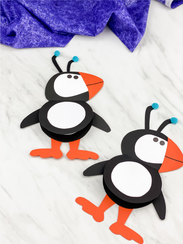 puffin paper craft