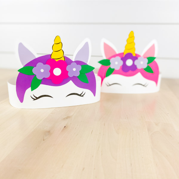 Purple and pink paper unicorn headband  crafts