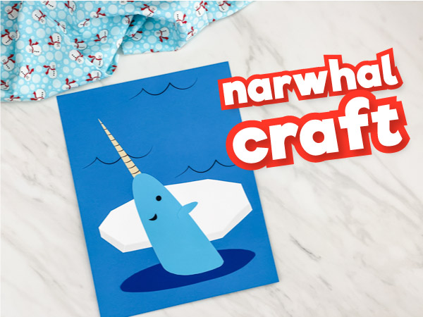 Narwhal Craft For Kids