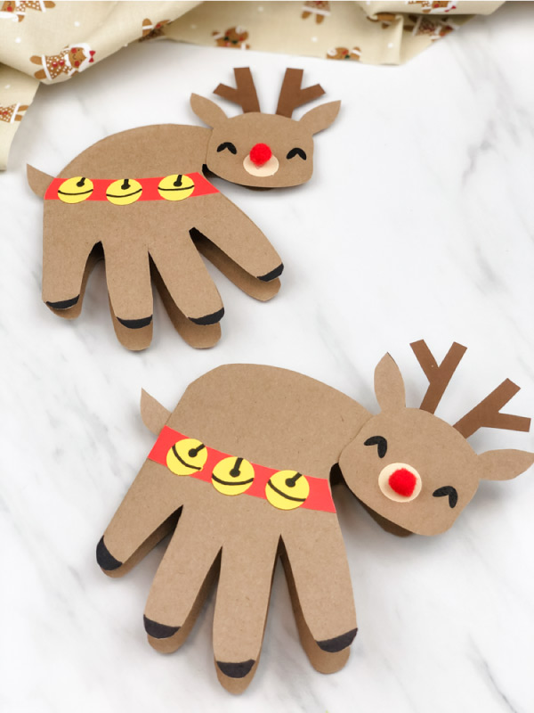 reindeer handprint craft