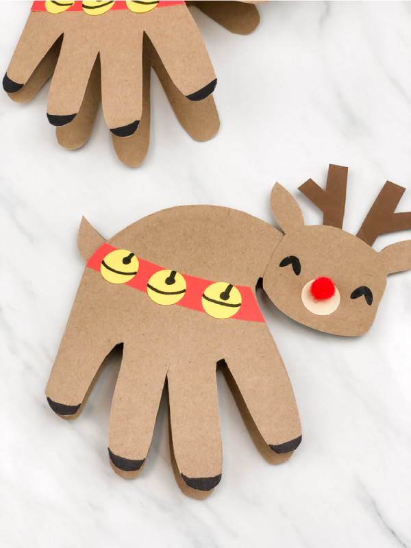 handprint rudolph craft